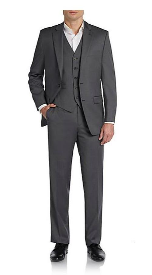 Regular-Fit Pinstriped Three-Piece Wool Suit by Ralph Lauren in Anchorman 2: The Legend Continues