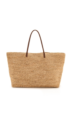 Leather Handles Luxe Tote Bag by Bop Basics in The Second Best Exotic Marigold Hotel