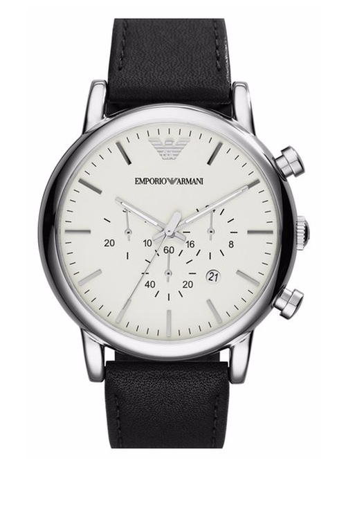 Chronograph Leather Strap Watch by Emporio Armani in The Blacklist - Season 3 Episode 18