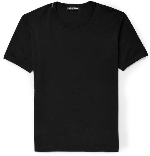 Cotton-Jersey Crew Neck T-Shirt by Dolce & Gabbana in Entourage