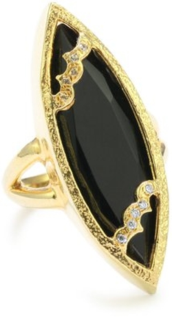 """Sassy Collection"" Onyx Sassy Marquis Ring by Melinda Maria in Pretty Little Liars"
