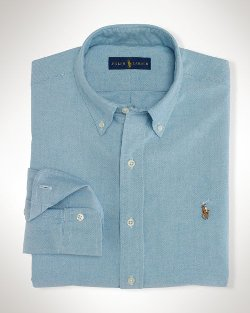 Solid Oxford Sport Shirt by Ralph Lauren in Her