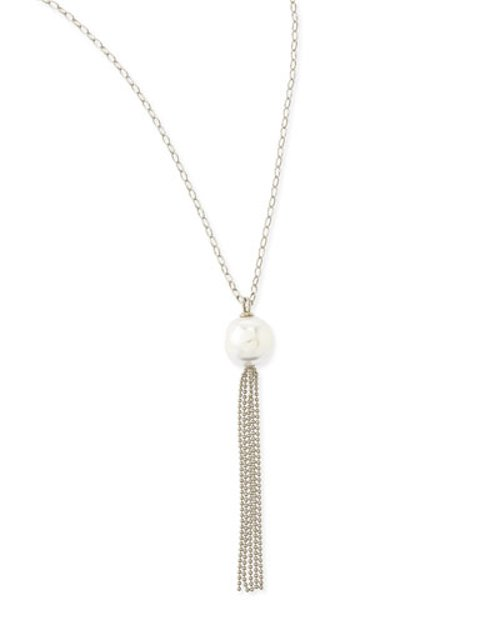 Tassel Pendant Necklace by Majorica	 in The Devil Wears Prada