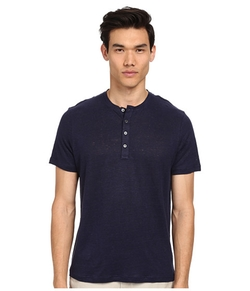 Linen Henley Shirt by Michael Kors in Nashville