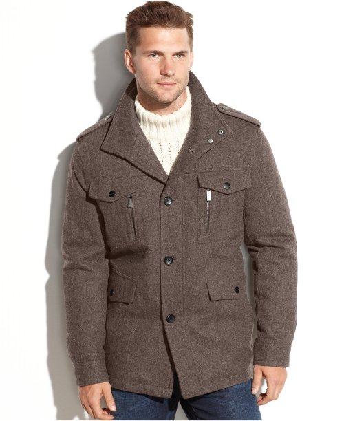 Camden Wool-Blend Multi-Pocket Field Coat by Michael Michael Kors in Vice