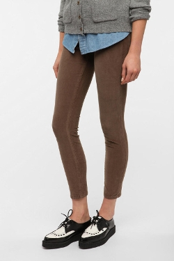 Brown Cigarette Mid Rise Corduroy Pant by BDG in Warm Bodies