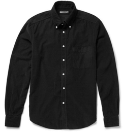 Button-Down Collar Washed Cotton-Corduroy Shirt by Boglioli in Eddie The Eagle