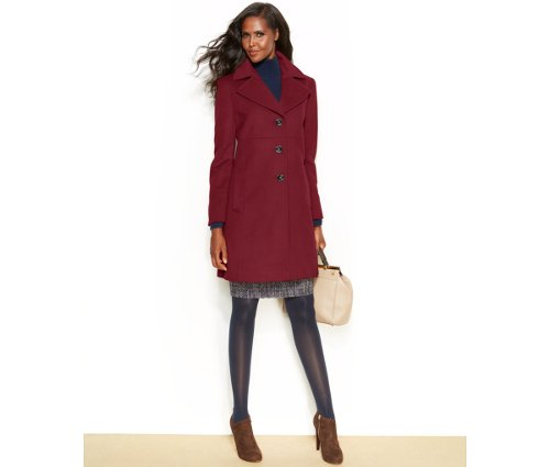 Notched-Collar Walker Coat by Larry Levine in That Awkward Moment
