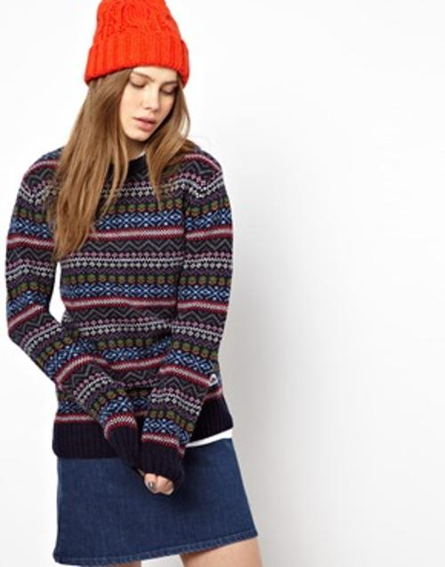 Intarsia Patterned Holidays Sweater by Penfield in The Hundred-Foot Journey