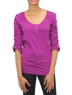 Short-Sleeve Ruched Tee by Style & Co. in Pitch Perfect 2