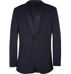 Navy Ludlow Slim-Fit Wool Travel Suit Jacket by J.Crew in The Place Beyond The Pines