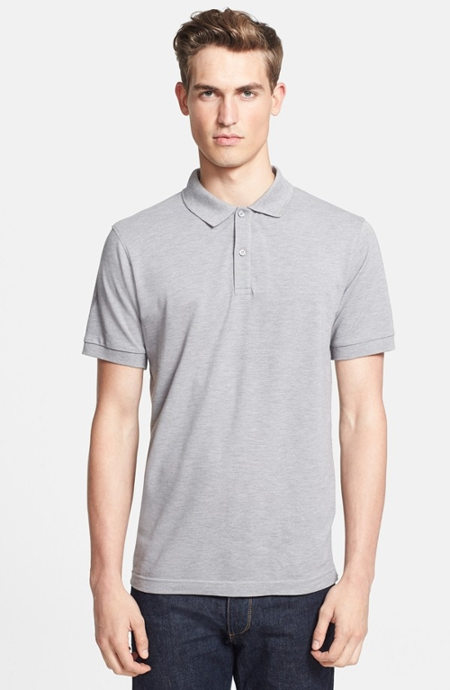 Cotton Piqué Polo Shirt by Sunspel in Fast Five