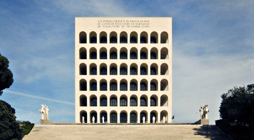 Palazzo della Civiltà Italiana (Depicted as ATOZ Building) Rome, Italy in Zoolander 2