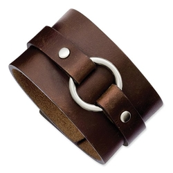 Stainless Steel Leather Bracelet by Venture Jewelers in The Last Witch Hunter
