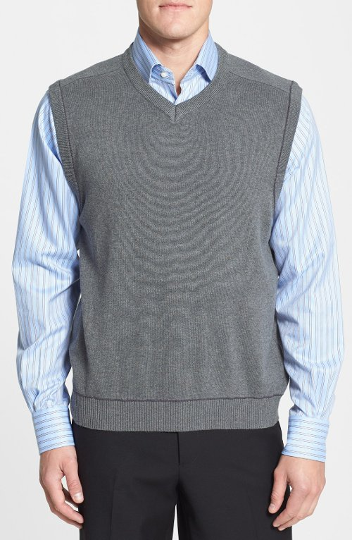 Broadview Sweater Vest by Cutter & Buck in (500) Days of Summer