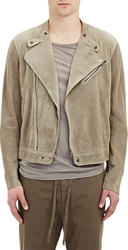 Suede Moto Jacket by Tomas Maier in Empire