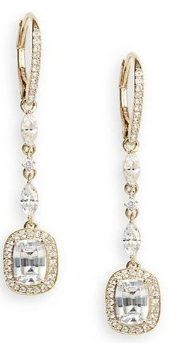 Sparkle Drop Earrings by Adriana Orsini in Arrow