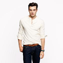 Homespun Knitwear Oldtimer Henley Shirt by J.Crew in The Maze Runner