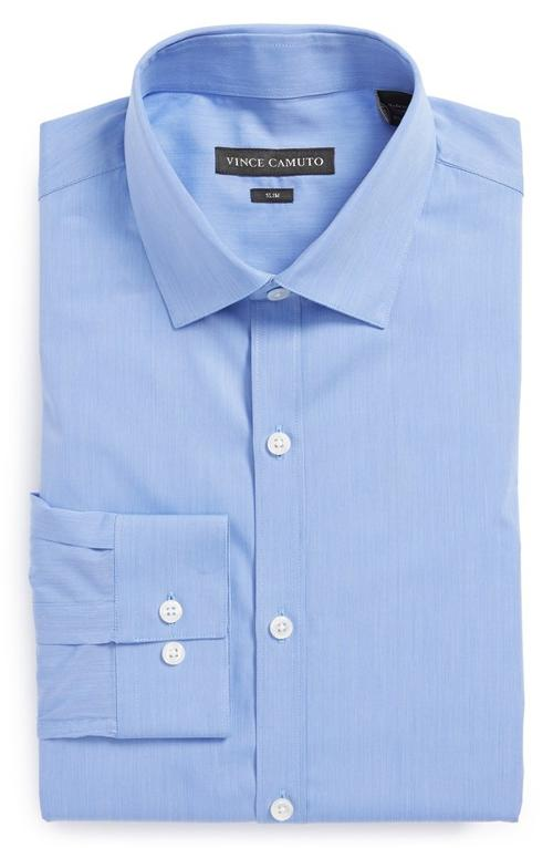 Slim Fit Stripe Dress Shirt by Vince Camuto in Addicted
