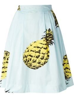 Pineapple Print Midi Skirt by MSGM in Pretty Little Liars