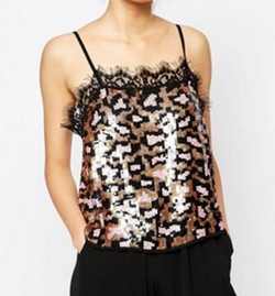 Sequin Animal Cami Top by Asos in Scream Queens