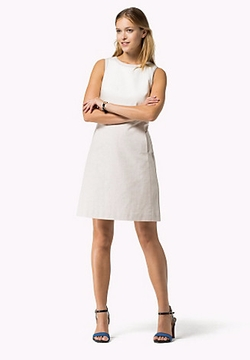 Cotton Linen Dress by Tommy Hilfiger in Supergirl