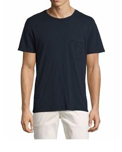 Raw-Pocket Crewneck T-Shirt by 7 For All Mankind  in Animal Kingdom