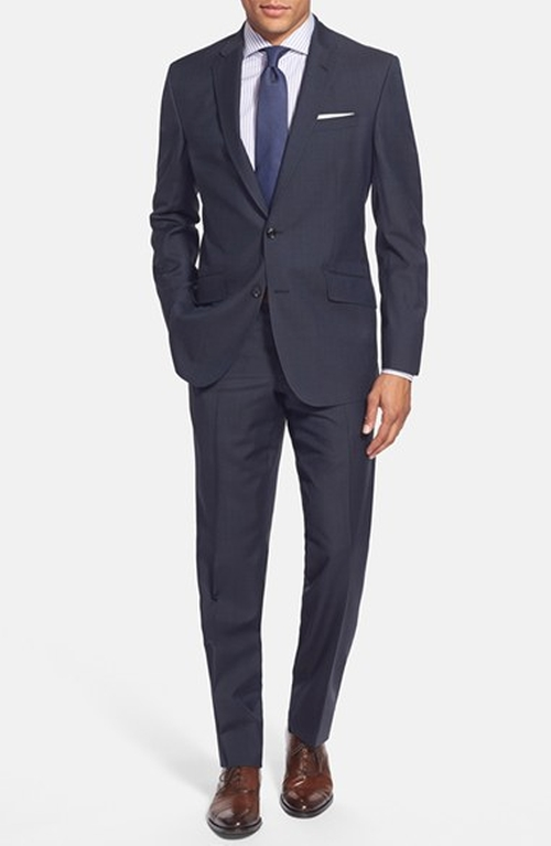 'Jones' Trim Fit Wool Suit by Ted Baker London in Supergirl