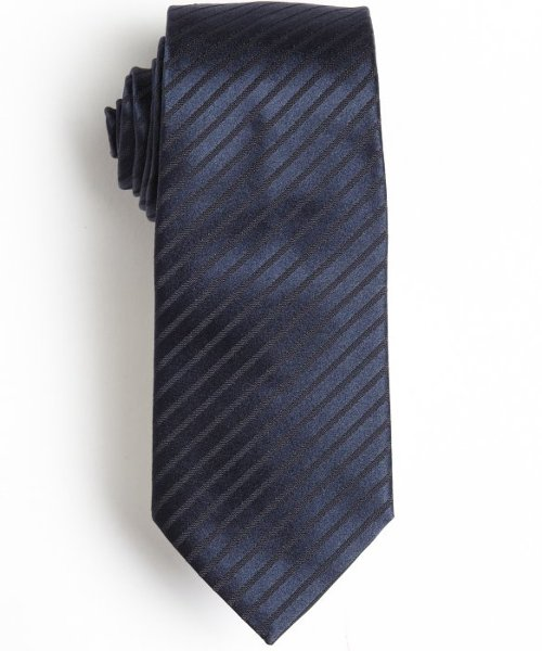 Navy and Black Striped Silk Tie by Armani in The Secret Life of Walter Mitty