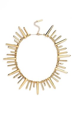 'Stella' Spike Collar Necklace by Rachel Zoe in Supergirl