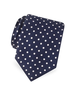 Polkadot Woven Silk Tie by Forzieri in Modern Family