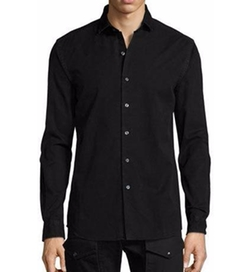 Denim Button-Front Shirt by Ralph Lauren in Collateral Beauty