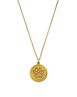 Paw Disc Pendant Necklace by Roberto Coin in Suits