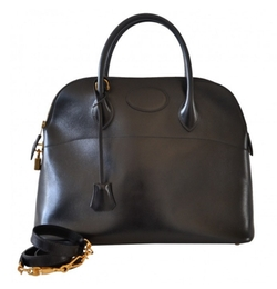 Vintage Hermès Bolide Black Box Leather Bag by Hermes in Suits