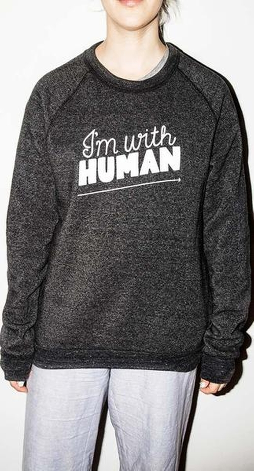 I'm With Human Sweatshirt by Rachel Antonoff in Gilmore Girls: A Year in the Life - Season 1 Preview