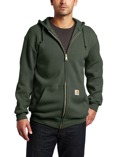 Mid-Weight Hooded Zip Front Sweatshirt by Carhartt in Silver Linings Playbook