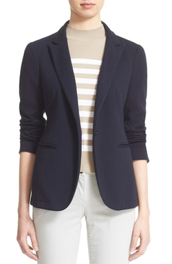One Button Knit Jacket by Eleventy in Scandal