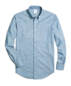 Regent Fit Chambray Sport Shirt by Brooks Brothers in The Flash