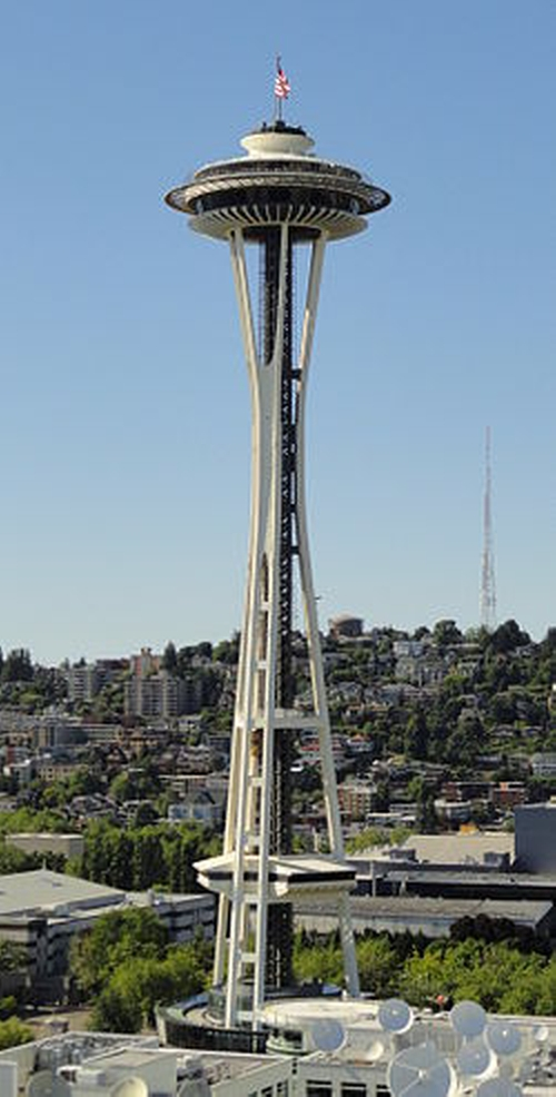 Space Needle Seattle, Washington in Fifty Shades of Grey