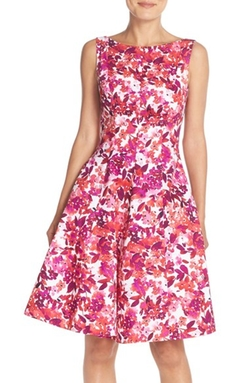 'Cherry Blossom' Print Fit & Flare Dress by Maggy London in Lady Dynamite
