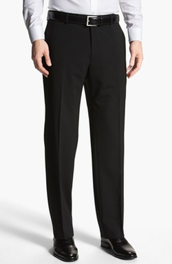 Flat Front Wool Trousers by Boss in Elf