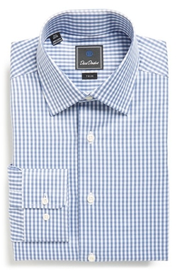Trim Fit Check Dress Shirt by David Donahue in House of Cards