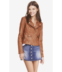 Quilted Shoulder (Minus The) Leather Jacket by Express in The Bachelorette