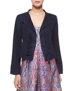 Angle Falls Structured Lace-Up Jacket by Nanette Lepore in Pretty Little Liars
