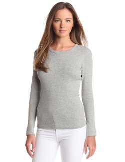 Women's Long Sleeve Crew-Neck T-Shirt by Three Dots in If I Stay
