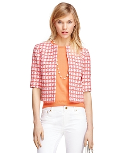 Cotton Three-Quarter Sleeve Jacket by Brooks Brothers in Scream Queens
