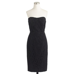 Kelsey Strapless Dress In Leavers Lace by J.Crew in The Vampire Diaries