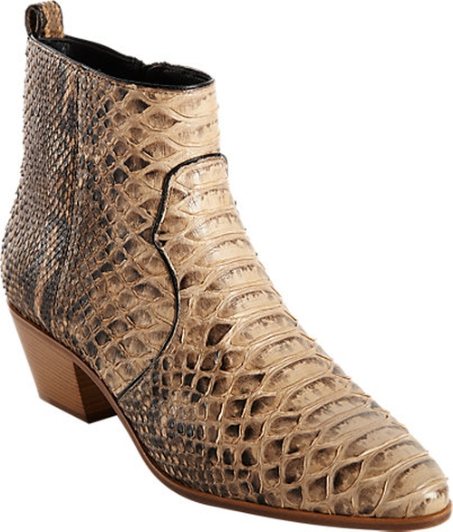 Python Rock Ankle Boots by Saint Laurent in Keeping Up With The Kardashians - Season 11 Episode 5
