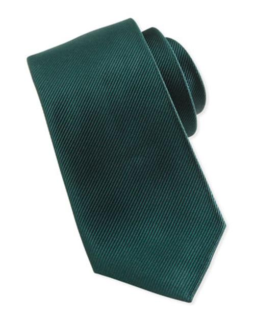 Solid Bias Ribbed Silk Tie by Neiman Marcus in Kingsman: The Secret Service
