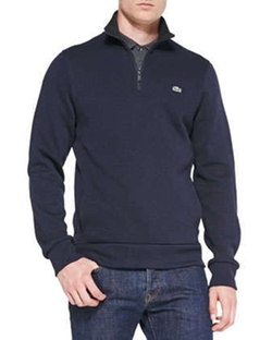 Half-Zip Pullover Sweatshirt by Lacoste in Mortdecai